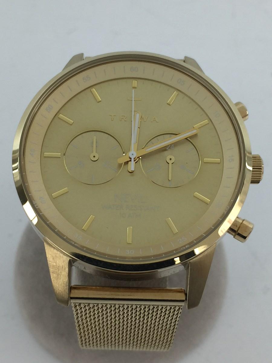 中古 買い取り TRIWA クォーツ腕時計 新品 アナログ ステンレス ゴールド 服飾雑貨他