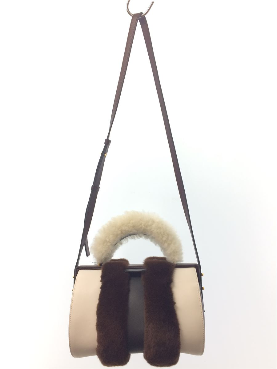 【中古】MARNI◆Duffle Tag Fur-Trimmed LeatherBagレザー//FRMPZ06Q01P0201【バッグ】