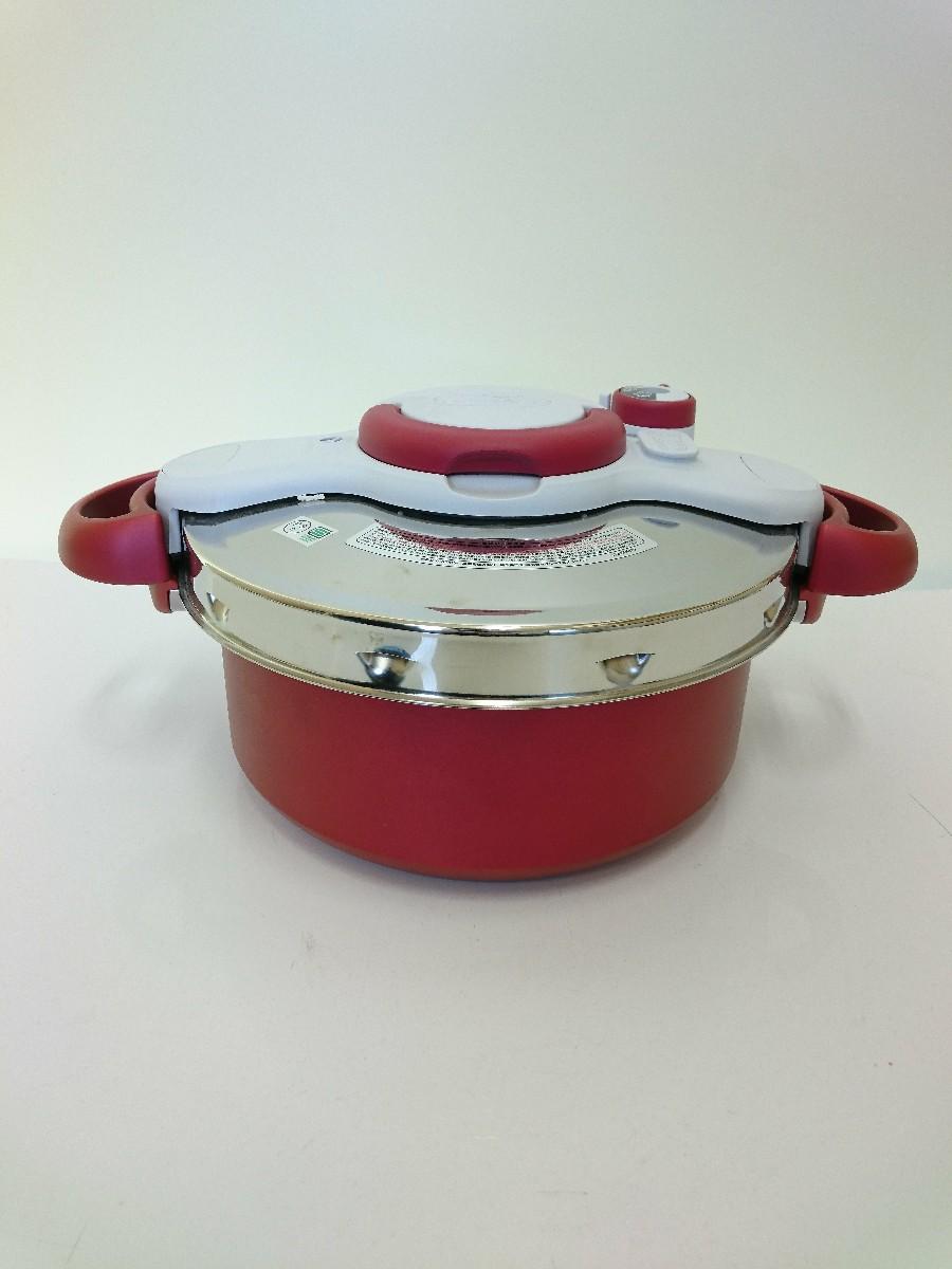 中古 T-fal 圧力鍋 容量:5L RED 人気の定番 5.2L IH可 正規品送料無料 キッチン用品 クリプソミニットデュオ