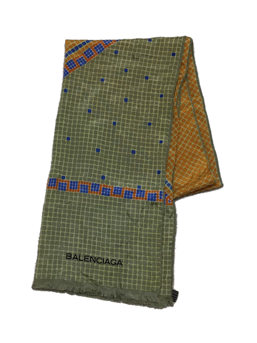 中古 BALENCIAGA 全品最安値に挑戦 送料無料限定セール中 ストール シルク 服飾雑貨他 マルチカラー シルク100パーセント 総柄