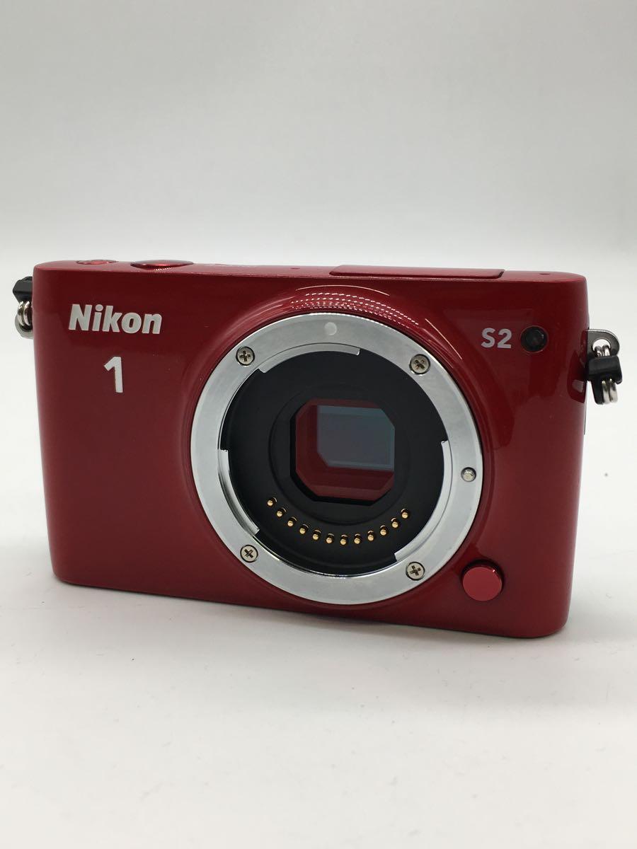 【中古】Nikon◆デジタル一眼カメラ Nikon 1 S2 ダブルズームキット [レッド]【カメラ】