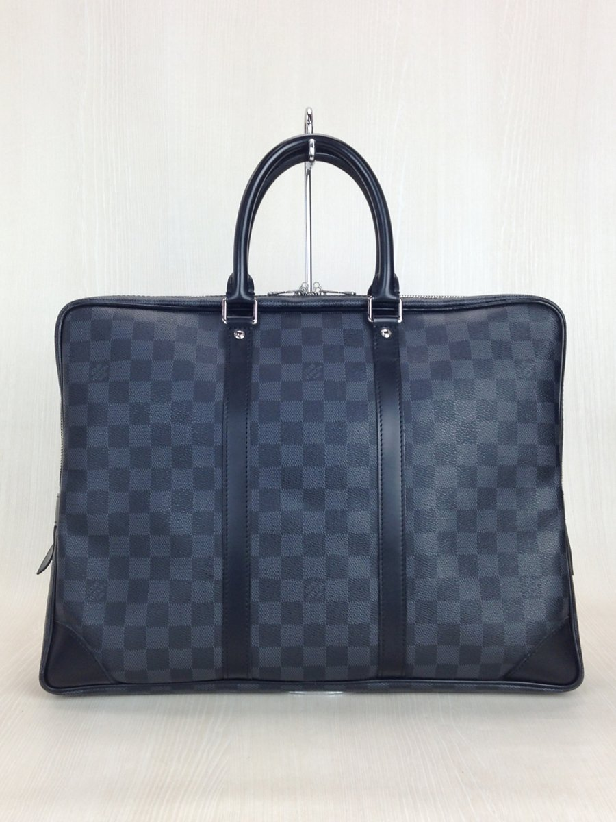 LOUIS VUITTON◆バッグ/レザー/GRY/総柄【中古】【バッグ】