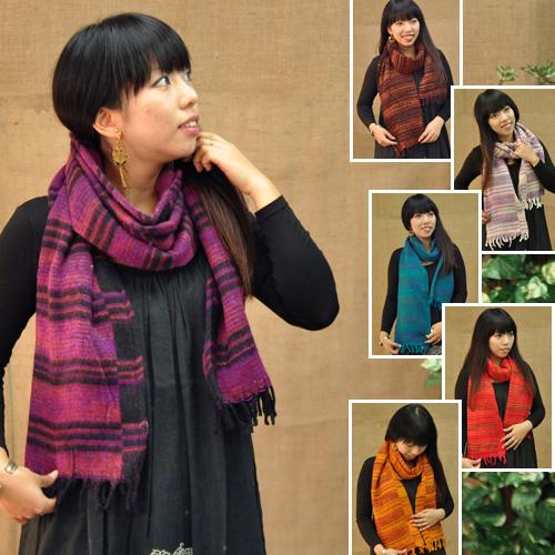 色違いで揃えたいプチプラストール☆ ショリルストール 新品 アジアンファッション エスニックファッション 割引 Amina IACP9301 チャイハネ ボーダー アミナ