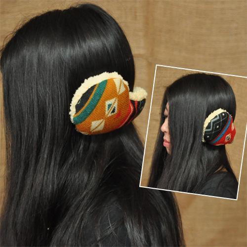 ユニセックスに使えます☆ ペーシーイヤーマフ アジアンファッション アジアン雑貨 エスニックファッション エスニック雑貨 チャイハネ 南米 ネイティブアメリカン 日本限定 アミナ 耳あて Amina 人気 おすすめ