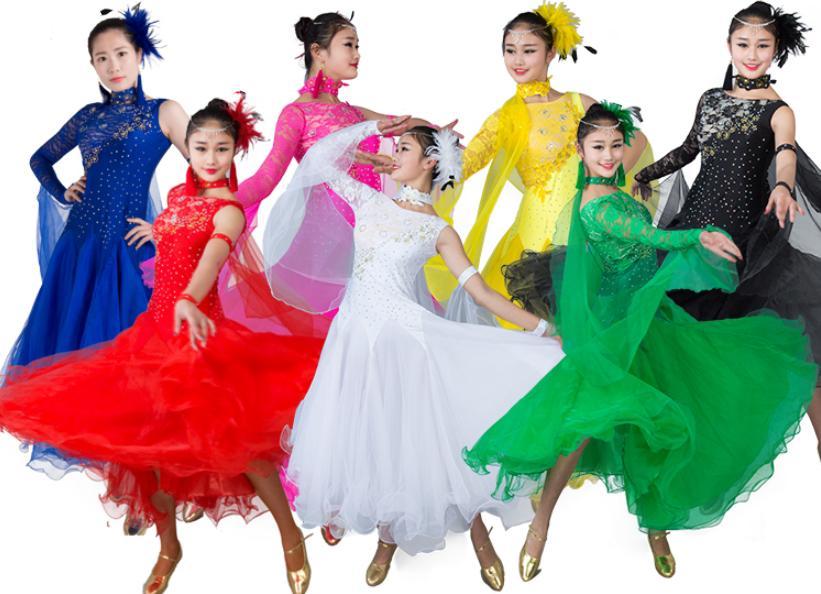9色豪華モダンドレス 二枚送料無料 スパンコール社交ダンスドレス  ソシアル ダンスレッスン着 ワルツラテンダンス衣装 チュール華やか舞台ステージ演出服 団体ウエア