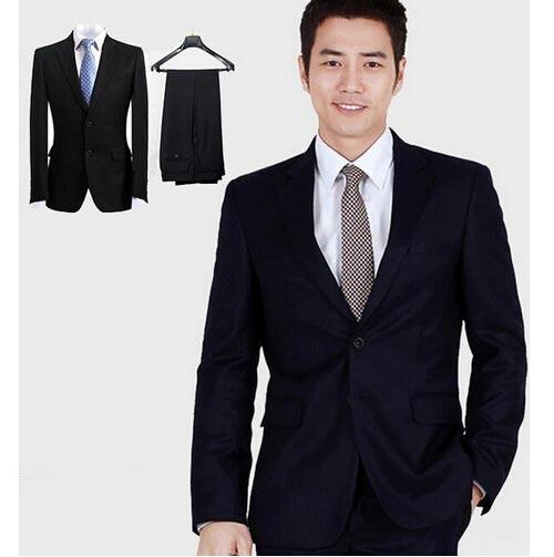 全品2点送料無料 スーツ セットアップ メンズ 2ツボタン ビジネススーツ スリムスーツ ウォッシャブルスラックス ブラック ネイビー 黒 紺