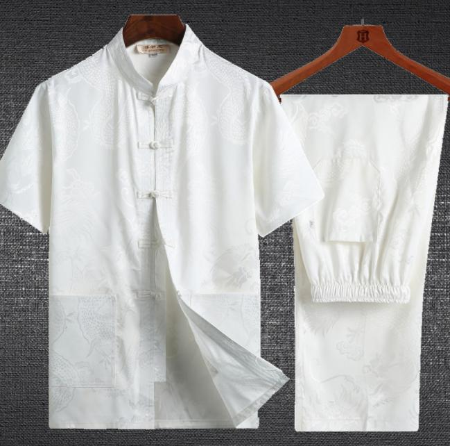 It is short sleeves blouse + long shot underwear Tai chi chuan training  early in the morning wear martial arts kung fu qigong wear Chinese food  style