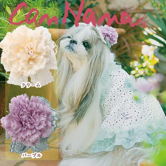 つけただけでエレガントな雰囲気に ワンタッチで使いやすい 大き目リボン CanNana きゃんナナ フラワーワンタッチアクセ 約6cm LB-212 期間限定特価品 犬アクセ 夏アクセ ヘアリボン 犬のアクセサリー クリーム メール便対応 情熱セール 犬のリボン 髪飾り アクセ パープル