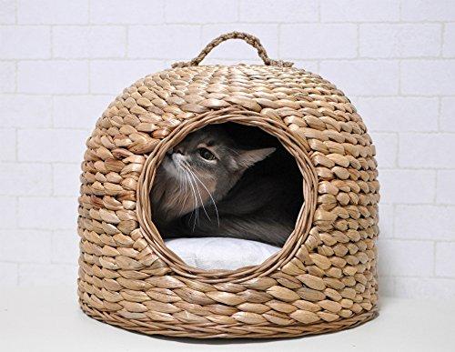 【N4スタイル】キティグラスドームベッド 猫 インテリア  シンシアジャパン ちぐら やぐら ラタン