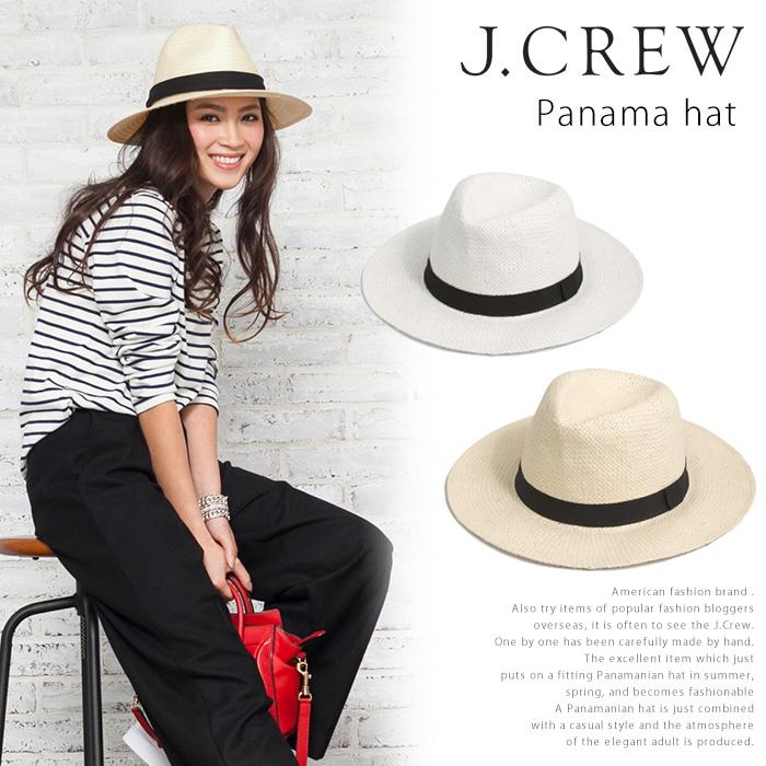 Adult J.CREW J crew hair PanamaHat vol turu Hat natural American casual  brand JCREW hair 7611fc6f0f4