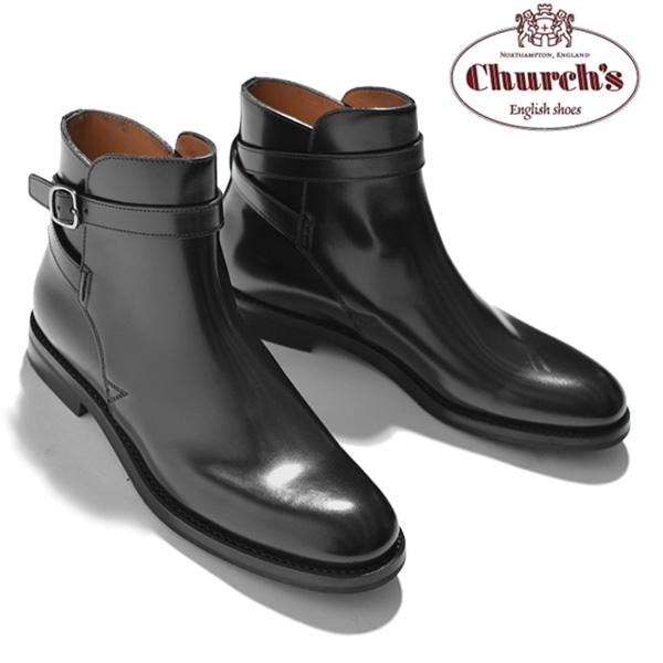 チャーチ Church's レディース ショートブーツ ベルト Merthyr Black Polished Binder カーフレザー ブラック サイズ36/36.5/37/37.5/38/38.5 モードなデザイン 上質レザー使用 革靴|カジュアルブーツ ショート ブーツ ブランド送料無料