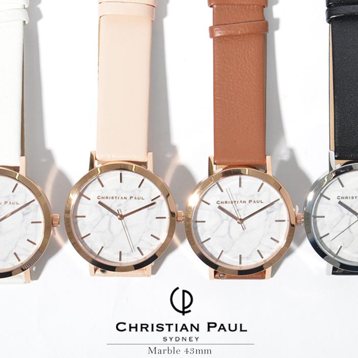 クリスチャンポール 時計 CHRISTIAN PAUL 腕時計Marble マーブル 大理石 43mm 全4色送料無料