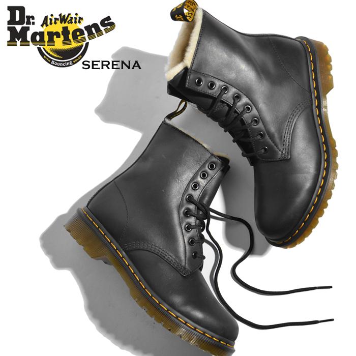 ドクターマーチン Dr.Martens SERENA ファー 8ホール ブーツ エコファー レディース ブーツ ショートブーツ セレナ 編み上げ靴 ショート かわいい おしゃれ シューズ 大人 マーチン レディースブーツ送料無料