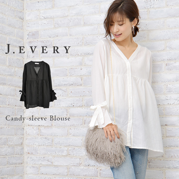 J.EVERY Lady s Candice Reeve long sleeves blouse    Candy-sleeve Blouse    555f6767ba