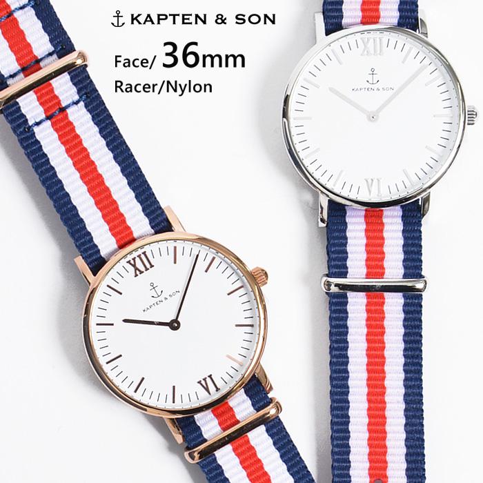 キャプテン&サン 時計 KAPTEN&SON 腕時計 ウォッチ 36mm Racer レーサー レディース/メンズ/ユニセックス送料無料