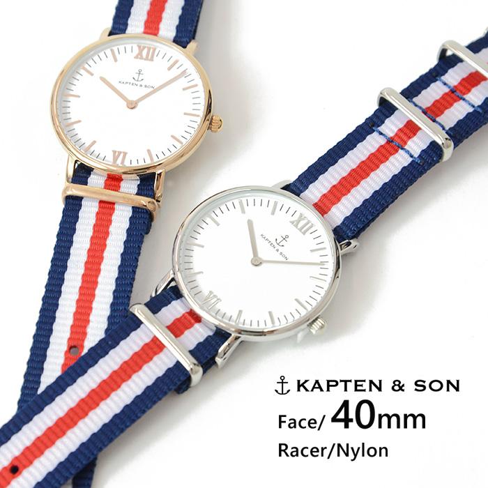 キャプテン&サン 時計 KAPTEN&SON 腕時計 ウォッチ 40mm Racer レーサー レディース/メンズ/ユニセックス送料無料