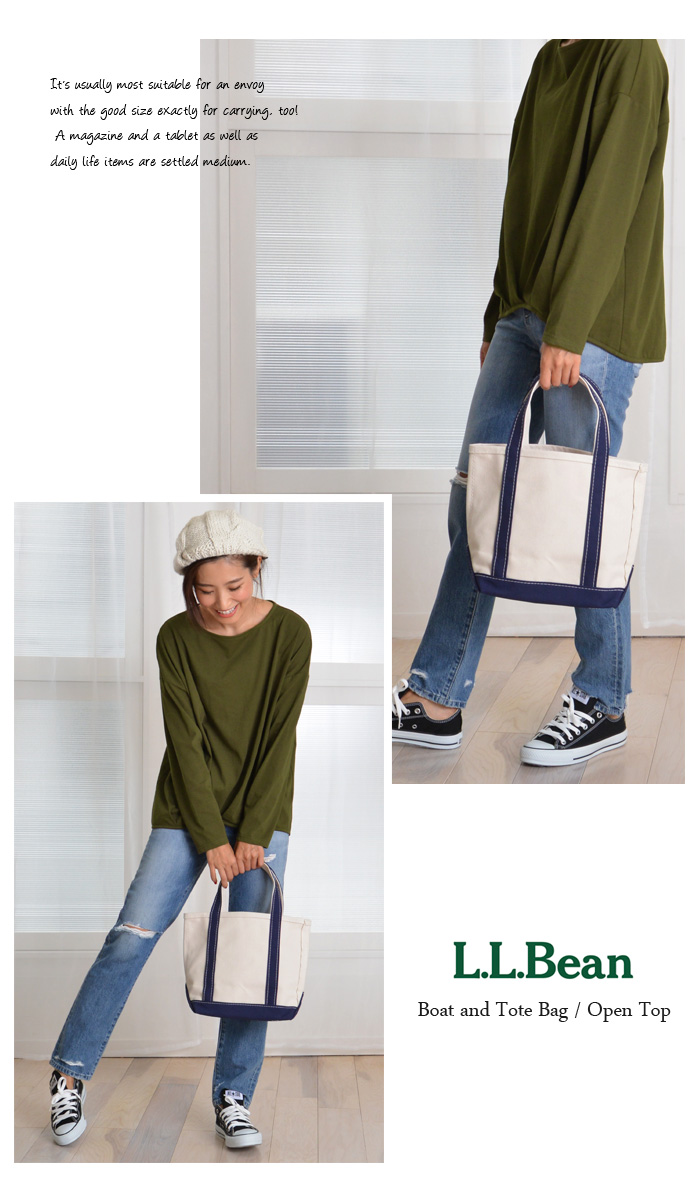 0e0fd49d08 LL Bean tote bag s black small black  Boat and Tote Bag Open-Top  popular  staple color ♪ convenient commuting to carry