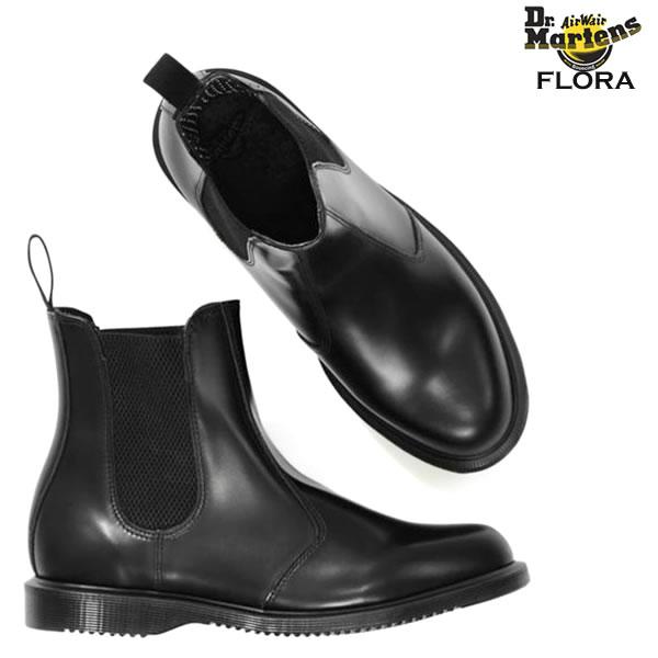 ドクターマーチン サイドゴア レディース ブーツ Dr.Martensショートブーツ FLORA 定番モデルよりも細身デザイン 普段にはもちろん レインブーツ としてや フェス などにも サイドゴアブーツ レインシューズ送料無料