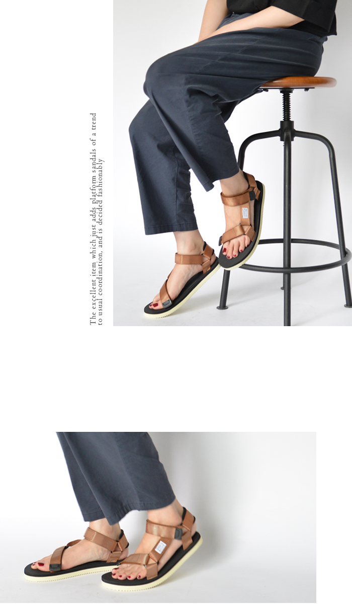 SUICOKE sicock 女士德运动凉鞋皮带皮带凉鞋 Vibram 唯一同一天发货