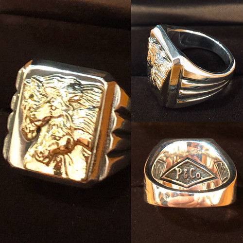 【PEANUTS & Co】 ピーナツカンパニー PHARAOHS HORSES RING Square silver× K10 リング