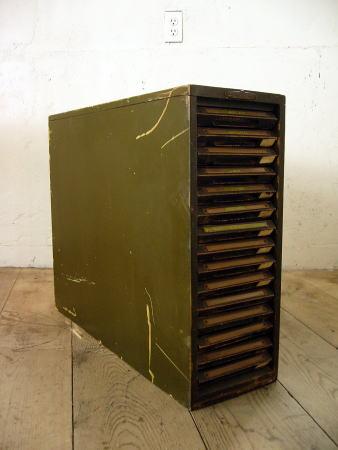 【アンティーク 家具 ドロワー 木製 引き出し インダストリアル ショップ ディスプレイ 什器】Stationery Box