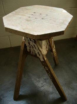 【アンティーク スツール フラワースタンド 木製 サイドテーブル】ジャンクスツール