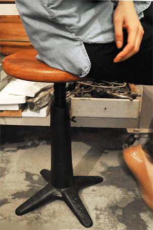 【インダストリアル 家具 スツール アイアン ウッド 什器 アンティーク調 アンティーク風】BONOX 回転スツール