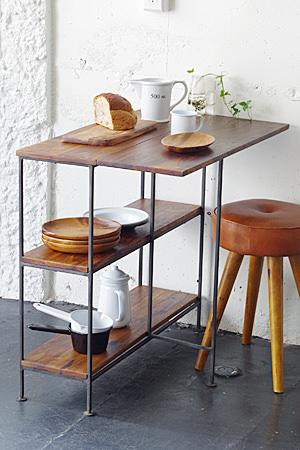 【テーブル 家具 ラック ディスプレイ 什器 アンティーク風 アンティーク調】アイアンウッドバタフライテーブル
