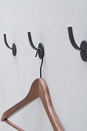 【インダストリアル アイアン ウォール フック 壁付 ハンガー アンティーク調 アンティーク風】ラフアイアン ラウンドフック