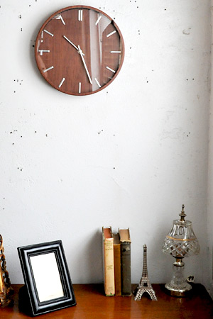 【ウォールクロック 壁掛け時計 レトロ アンティーク調 アンティーク風】ウッディクロック オーク
