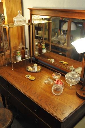 【アンティーク 家具 ドレッサー 木製 ミラー テーブル 鏡台 ディスプレイ 什器】ドレッサー