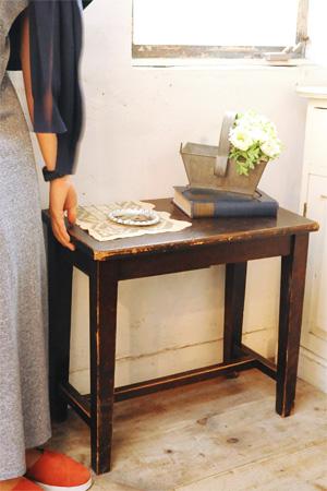 【アンティーク テーブル 木製 サイドテーブル ディスプレイ 什器】サイドテーブル