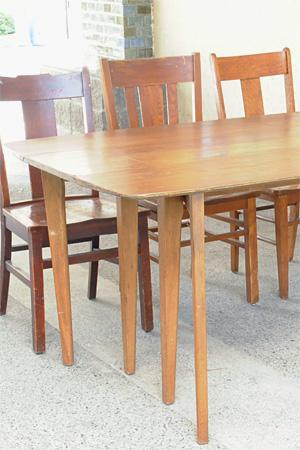 【アンティーク 家具 テーブル 木製 ダイニングテーブル ディスプレイ 什器】フォールディングテーブル