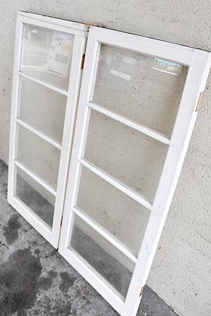 【アンティーク 家具 窓枠 木製 ウィンドウ ガラス 室内窓 建材 建具 採光窓】アンティークウィンドウ