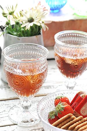 ゴブレット グラス ガラス キッチン 食器 雑貨 おしゃれ レトロ クラシック ヴィンテージ ギフト ワイン マーガレット 未使用 ゴブレットグラス ジュース アンティーク調 評価 アンティーク ゴブレットグラスマーガレット アンティーク風