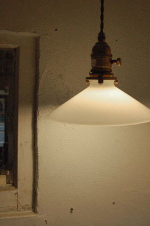 【ペンダントライト ペンダント照明 電球セット LED対応 ガラス キッチン カフェ ショップ アンティーク調 アンティーク風】ペンダントライトミルクシェードオールドスタイル1