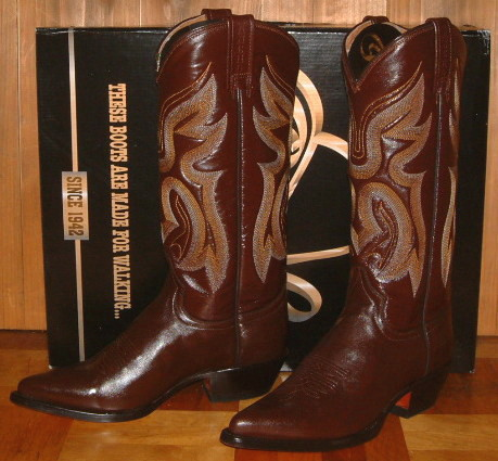 a6a1d10f3afc Cowboy boot tea shoes BROWN long boots Lady s boots made of RANCHO  ランチョ  woman business (Lady s-adaptive size)