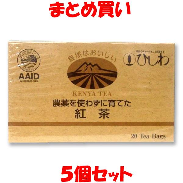 菱和 お気に入 農薬を使わずに育てた紅茶 ティーバッグ まとめ買い 本日の目玉 2.2g×20袋×5個セット