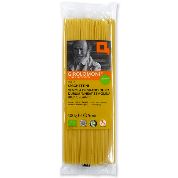 冷製パスタにおすすめの1.4mm スパゲッティ セール価格 ジロロモーニ 500g 1.4mm 信憑 デュラム小麦有機スパゲッティーニ