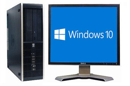 【中古パソコン】【液晶セット】【Windows10 搭載】【Core2Duo搭載】【メモリー2GB搭載】【HDD250GB搭載】【DVDマルチ搭載】 HP 8000 Elite SFF (1289554)