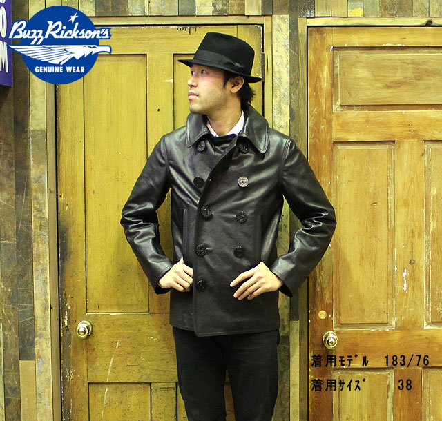 "No.BR80420 BUZZ RICKSON'S バズリクソンズWILLIAM GIBSON COLLECTION""type PEA COAT HORSE HIDE"""