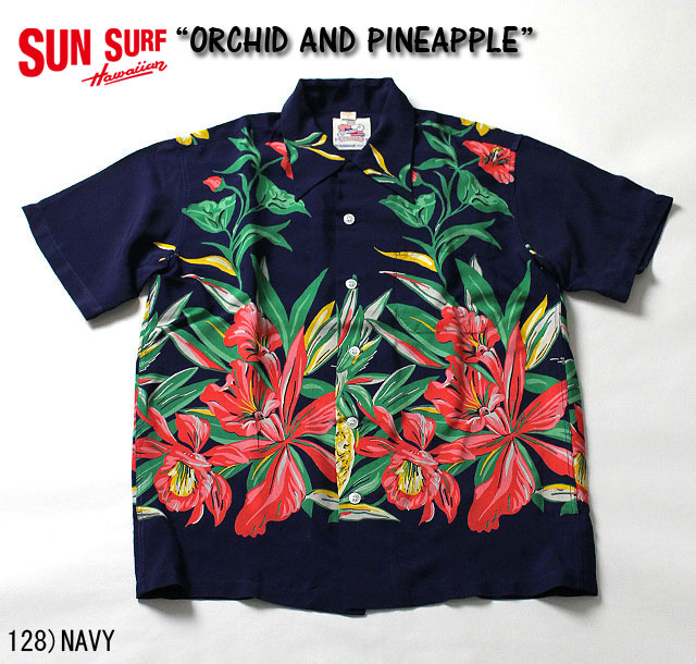 "No.DK36651 DUKE KAHANAMOKU デュークカハナモクS/S SPECIAL EDITION""ORCHID AND PINEAPPLE"""