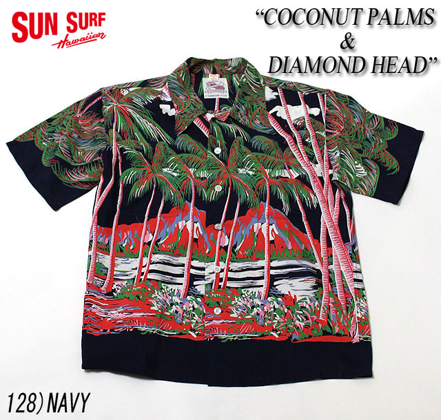"No.DK36202 DUKE KAHANAMOKU デュークカハナモクS/S SPECIAL EDITION""COCONUT PALMS&DIAMOND HEAD"""