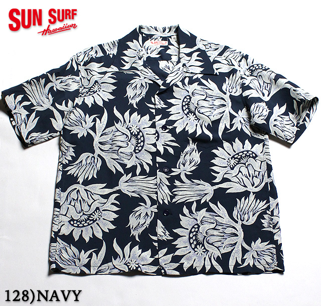 "No.SS37776 SUN SURF サンサーフS/S RAYON HAWAIIAN SHIRT""FLASHING KING PROTEA"""
