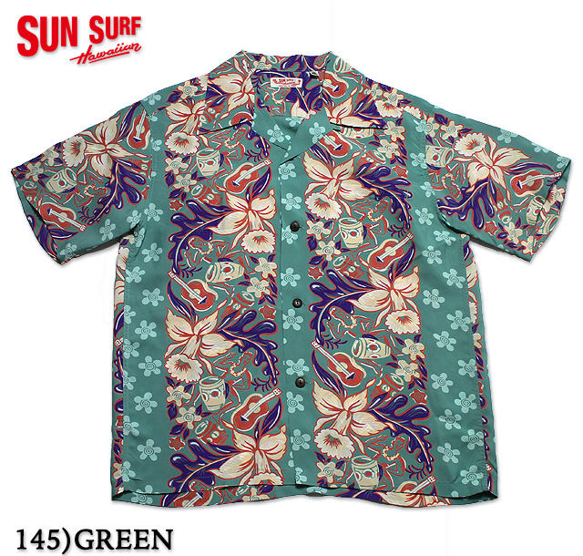 "No.SS37792 SUN SURF サンサーフS/S RAYON HAWAIIAN SHIRT""ORCHID AND HAWAIIAN TRADITION"""
