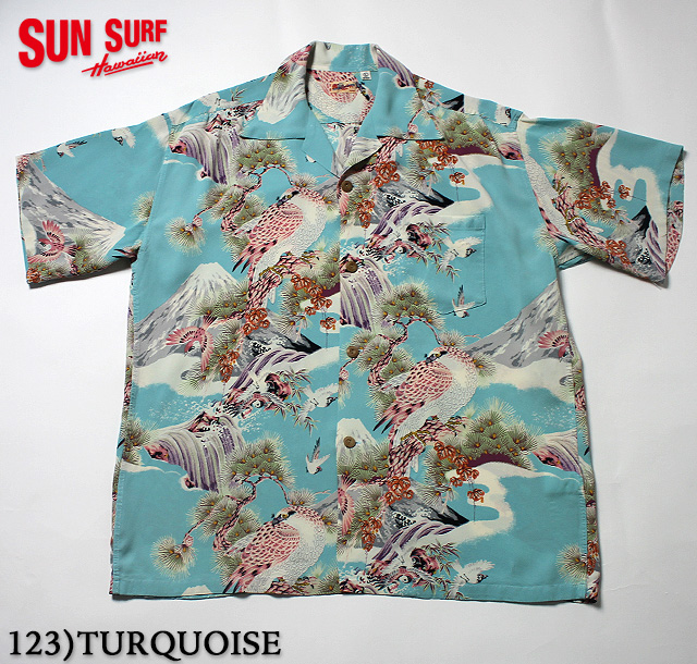 "No.SS37786 SUN SURF サンサーフS/S RAYON HAWAIIAN SHIRT""HAWK"""