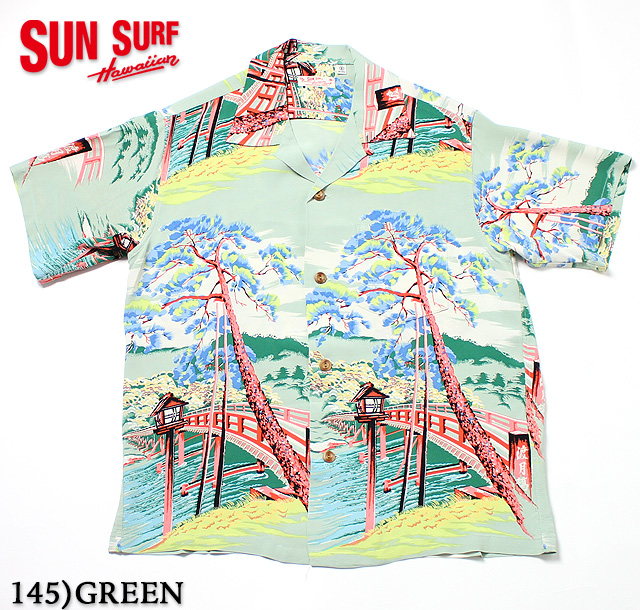 "No.SS32161 SUN SURF サンサーフS/S RAYON HAWAIIAN SHIRT""TOGETU BRIDGE"""