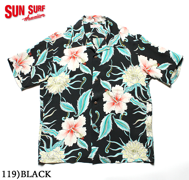 "No.SS38045 SUN SURF サンサーフS/S RAYON HAWAIIAN SHIRT""MOON LIGHT GARDEN"""