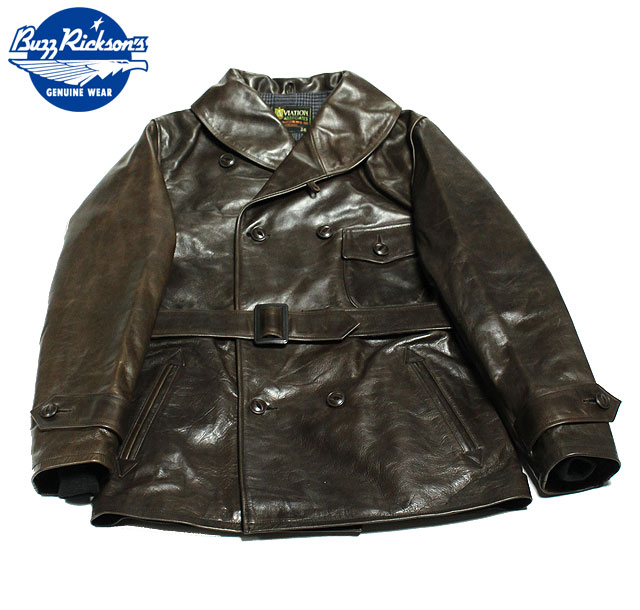 No.BR80447 BUZZ RICKSON'S バズリクソンズAVIATION ASSOCIATESLEATHER COAT,MACKINAW