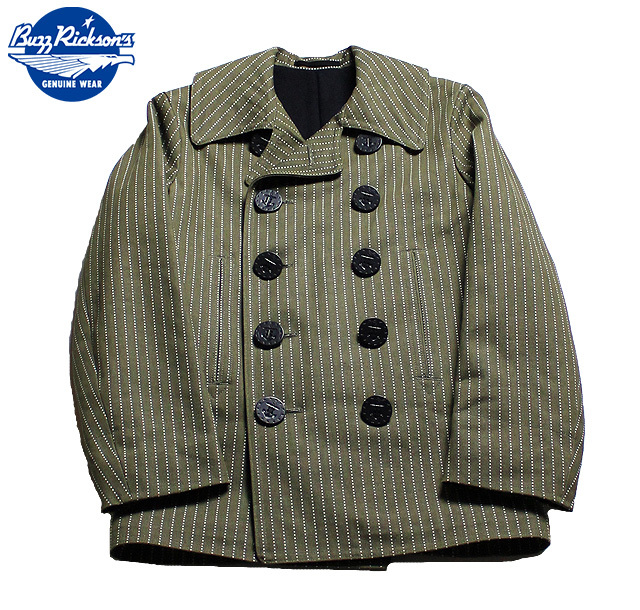No.BR13885 BUZZ RICKSON'S バズリクソンズAVIATION ASSOCIATESWABASH STRIPE PEACOAT